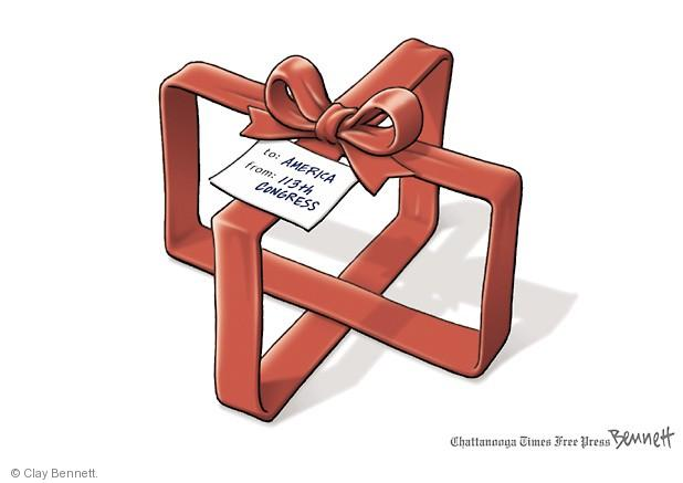 Clay Bennett  Clay Bennett's Editorial Cartoons 2013-12-20 budget