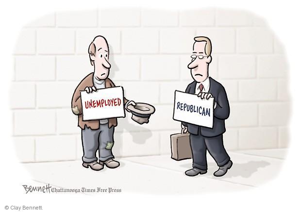 Cartoonist Clay Bennett  Clay Bennett's Editorial Cartoons 2013-12-30 unemployment
