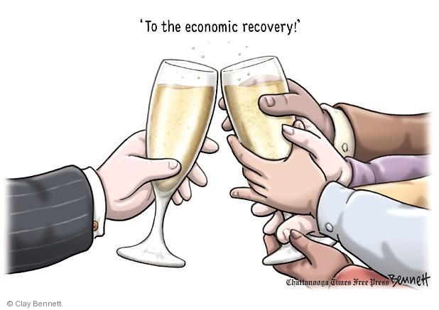 Cartoonist Clay Bennett  Clay Bennett's Editorial Cartoons 2014-01-01 recession
