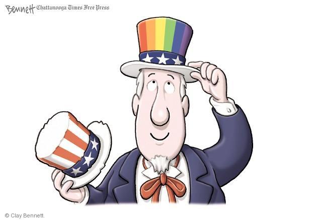 Cartoonist Clay Bennett  Clay Bennett's Editorial Cartoons 2014-01-05 uncle