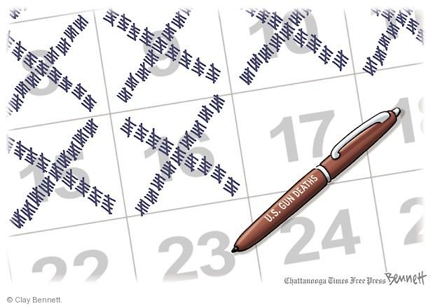 Cartoonist Clay Bennett  Clay Bennett's Editorial Cartoons 2014-01-17 assault weapon