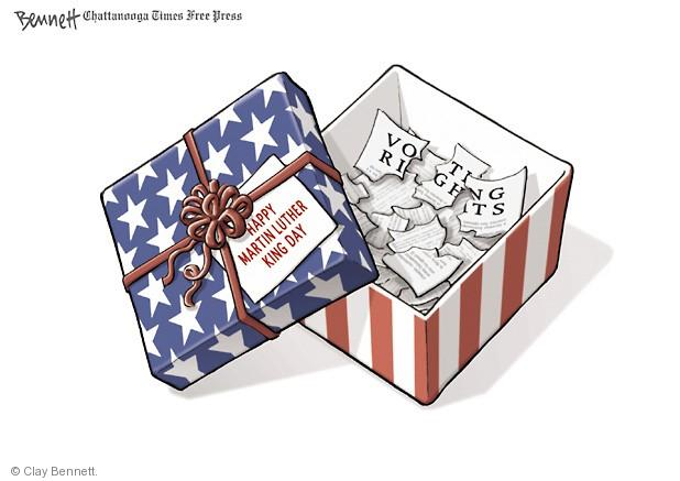 Cartoonist Clay Bennett  Clay Bennett's Editorial Cartoons 2014-01-19 reverend