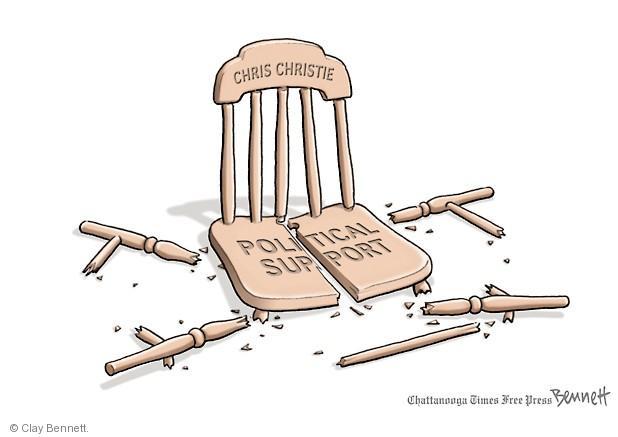 Clay Bennett  Clay Bennett's Editorial Cartoons 2014-02-03 Chris Christie bridge