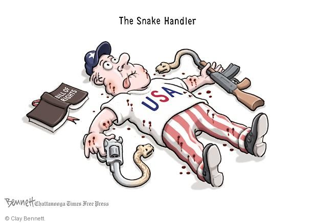 Cartoonist Clay Bennett  Clay Bennett's Editorial Cartoons 2014-02-04 assault weapon
