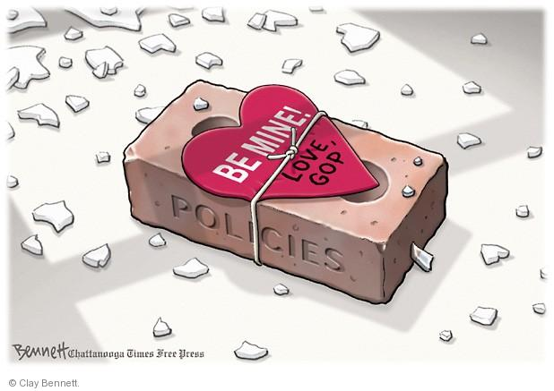 Cartoonist Clay Bennett  Clay Bennett's Editorial Cartoons 2014-02-13 Valentine's Day