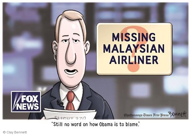 Cartoonist Clay Bennett  Clay Bennett's Editorial Cartoons 2014-03-17 blame Obama