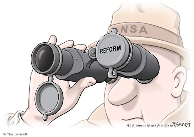 Clay Bennett  Clay Bennett's Editorial Cartoons 2014-03-28 spy