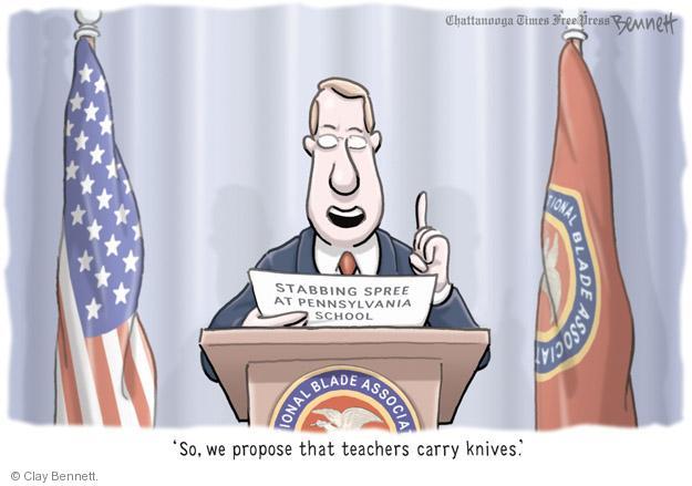 Cartoonist Clay Bennett  Clay Bennett's Editorial Cartoons 2014-04-11 weaponry