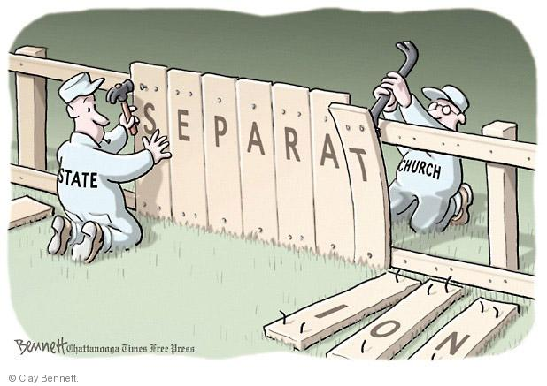 Cartoonist Clay Bennett  Clay Bennett's Editorial Cartoons 2014-05-06 separation
