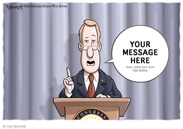 Cartoonist Clay Bennett  Clay Bennett's Editorial Cartoons 2014-06-05 campaign finance