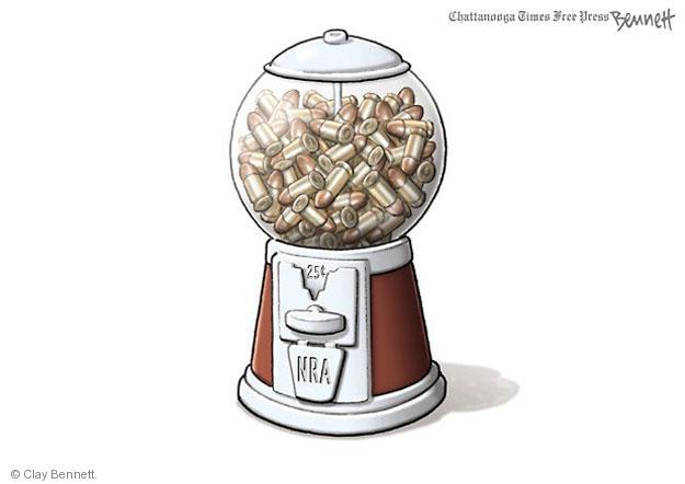 Cartoonist Clay Bennett  Clay Bennett's Editorial Cartoons 2014-07-08 NRA