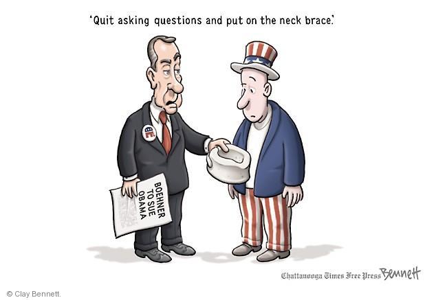 Cartoonist Clay Bennett  Clay Bennett's Editorial Cartoons 2014-07-14 John Boehner