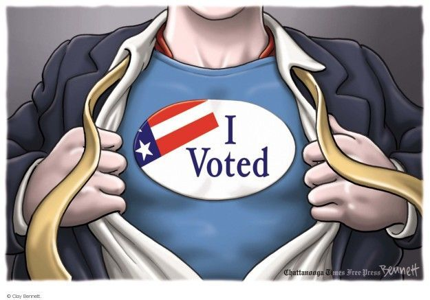 Cartoonist Clay Bennett  Clay Bennett's Editorial Cartoons 2014-08-07 democracy