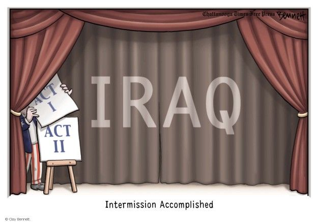 Cartoonist Clay Bennett  Clay Bennett's Editorial Cartoons 2014-08-11 Iraq