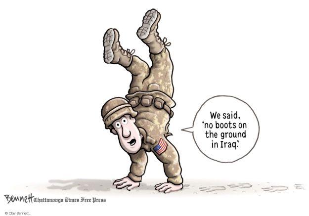 Cartoonist Clay Bennett  Clay Bennett's Editorial Cartoons 2014-08-14 Iraq