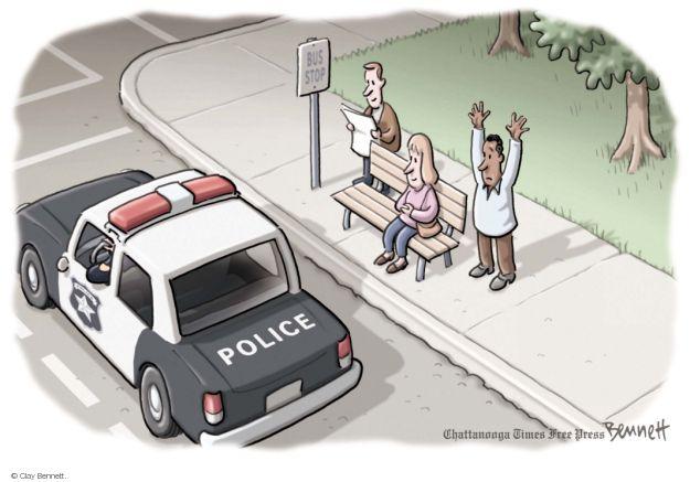 Cartoonist Clay Bennett  Clay Bennett's Editorial Cartoons 2014-08-15 race