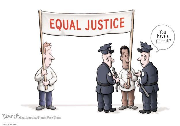 Cartoonist Clay Bennett  Clay Bennett's Editorial Cartoons 2014-08-18 race
