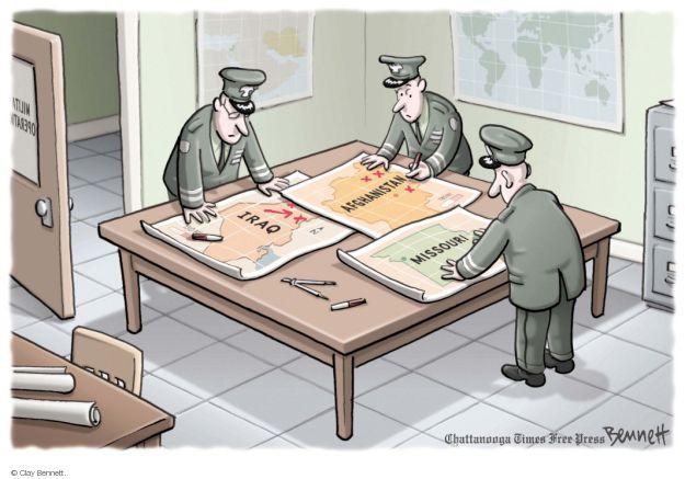 Cartoonist Clay Bennett  Clay Bennett's Editorial Cartoons 2014-08-20 Missouri