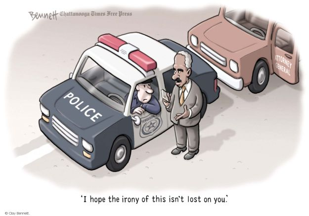 Clay Bennett  Clay Bennett's Editorial Cartoons 2014-08-21 Eric Holder