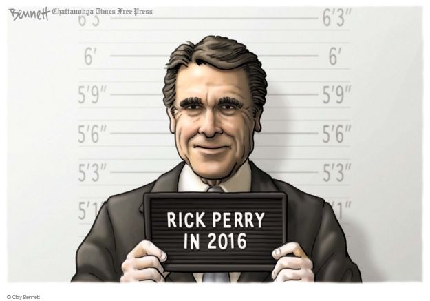 Cartoonist Clay Bennett  Clay Bennett's Editorial Cartoons 2014-08-22 Texas