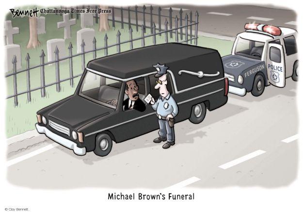Cartoonist Clay Bennett  Clay Bennett's Editorial Cartoons 2014-08-26 race