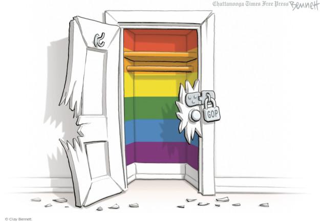Cartoonist Clay Bennett  Clay Bennett's Editorial Cartoons 2014-10-07 homosexual
