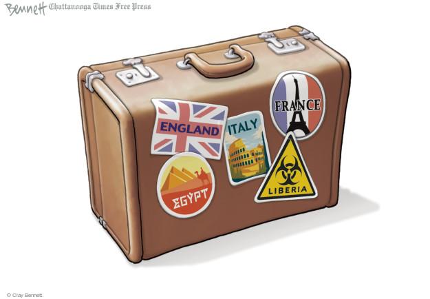England. Italy. France. Egypt. Liberia.