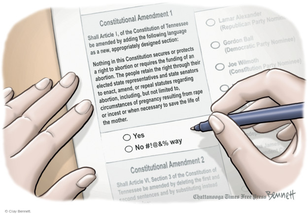 Cartoonist Clay Bennett  Clay Bennett's Editorial Cartoons 2014-10-09 Constitution