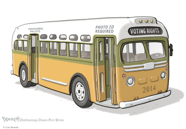 Clay Bennett  Clay Bennett's Editorial Cartoons 2014-10-16 voting rights