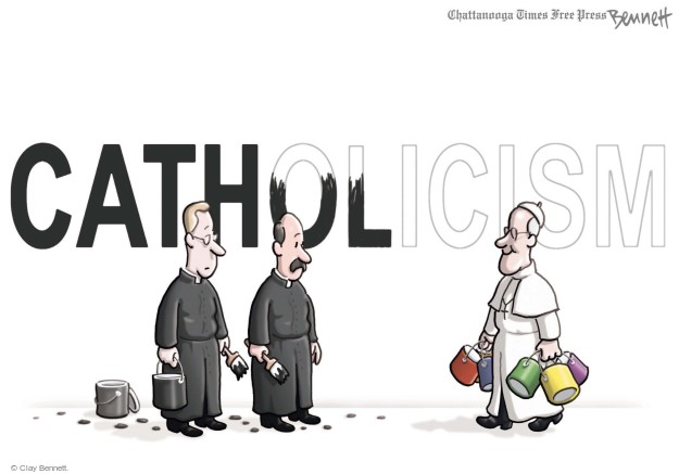 Cartoonist Clay Bennett  Clay Bennett's Editorial Cartoons 2014-10-22 black and white