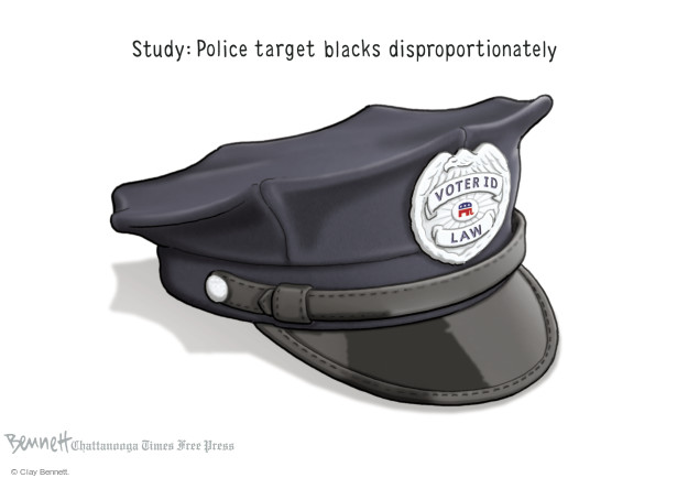 Clay Bennett  Clay Bennett's Editorial Cartoons 2014-10-24 voting rights