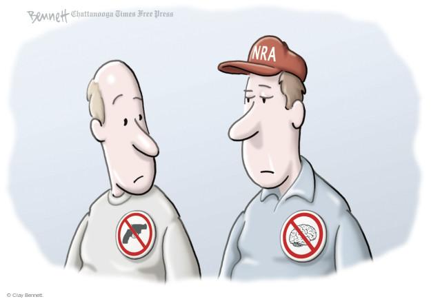 Cartoonist Clay Bennett  Clay Bennett's Editorial Cartoons 2014-10-27 NRA