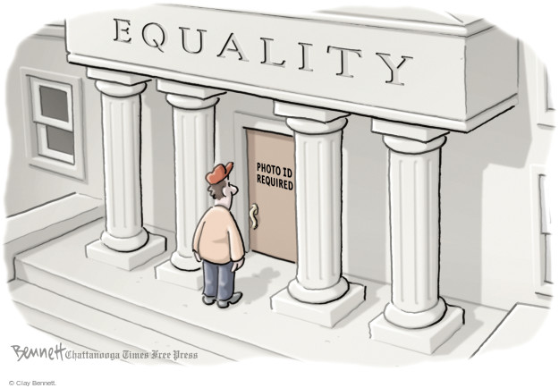Clay Bennett  Clay Bennett's Editorial Cartoons 2014-11-04 voting rights