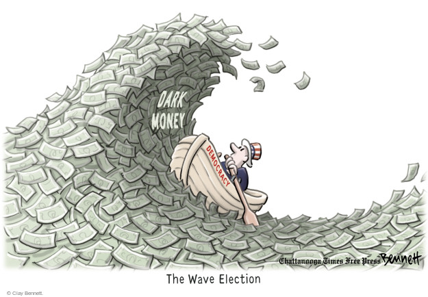 Cartoonist Clay Bennett  Clay Bennett's Editorial Cartoons 2014-11-05 campaign finance
