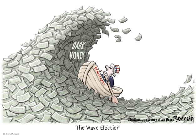 Cartoonist Clay Bennett  Clay Bennett's Editorial Cartoons 2014-11-05 campaign contribution