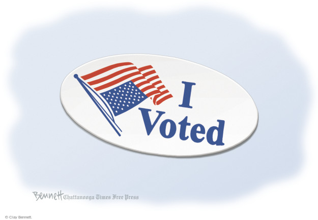 Cartoonist Clay Bennett  Clay Bennett's Editorial Cartoons 2014-11-06 button