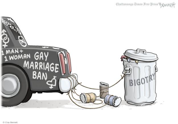 Clay Bennett  Clay Bennett's Editorial Cartoons 2014-11-12 bigotry