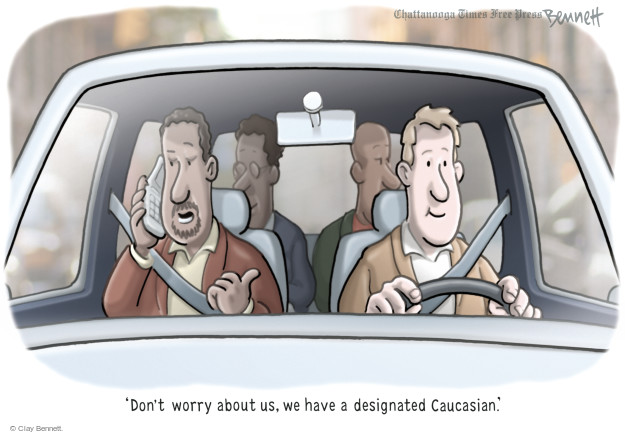 Cartoonist Clay Bennett  Clay Bennett's Editorial Cartoons 2014-11-26 race