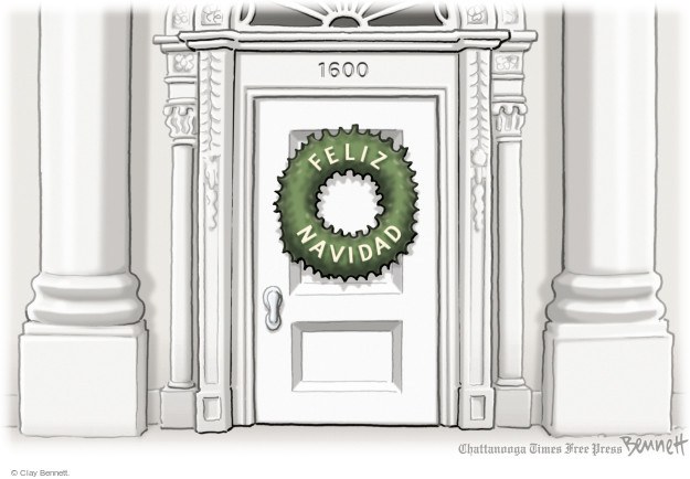 Clay Bennett  Clay Bennett's Editorial Cartoons 2014-12-04 1600 Pennsylvania Avenue