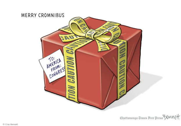 Merry Cromnibus. To: America. From: Congress. Caution.
