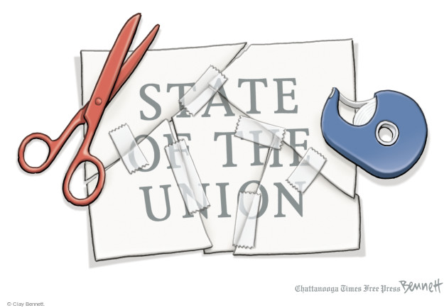 Cartoonist Clay Bennett  Clay Bennett's Editorial Cartoons 2015-01-21 separation