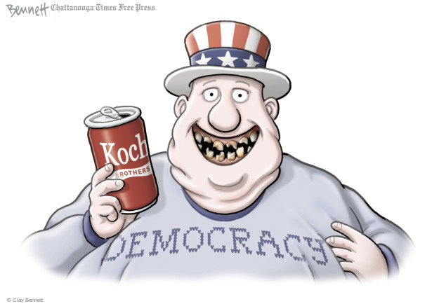 Cartoonist Clay Bennett  Clay Bennett's Editorial Cartoons 2015-01-30 democracy