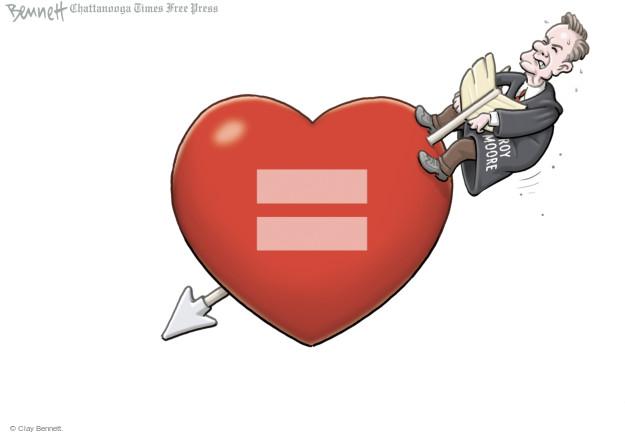 Cartoonist Clay Bennett  Clay Bennett's Editorial Cartoons 2015-02-13 arrow of love
