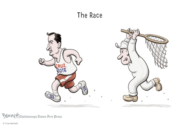 Cartoonist Clay Bennett  Clay Bennett's Editorial Cartoons 2015-03-24 race