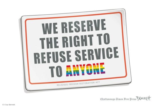 Cartoonist Clay Bennett  Clay Bennett's Editorial Cartoons 2015-03-31 gay
