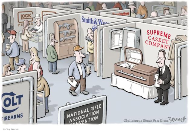 Cartoonist Clay Bennett  Clay Bennett's Editorial Cartoons 2015-04-09 NRA