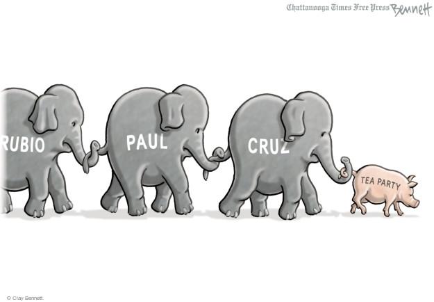 Clay Bennett  Clay Bennett's Editorial Cartoons 2015-04-14 presidential election