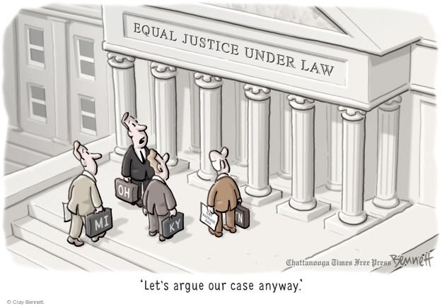Clay Bennett  Clay Bennett's Editorial Cartoons 2015-04-28 argue