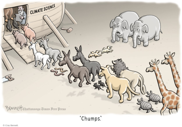 Climate science. Chumps.