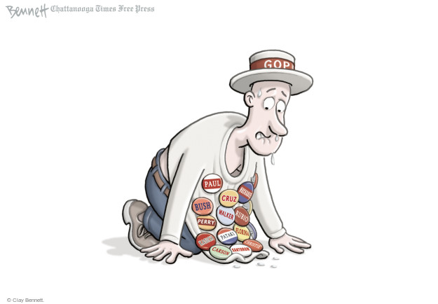 Cartoonist Clay Bennett  Clay Bennett's Editorial Cartoons 2015-06-01 button